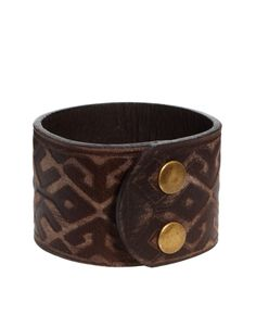 ASOS Embossed Leather Cuff
