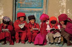 Tajik Children of an elementary school in Taxkorgan, Xinjiang, China. © Michael Yamashita