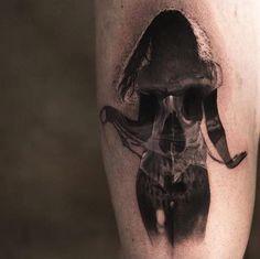 Skull & Female Silhouette