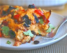 Layered Mexican Casserole is perfect for an easy laid-back dinner! Vegan, dairy-free, gluten-free and whole foods-based!