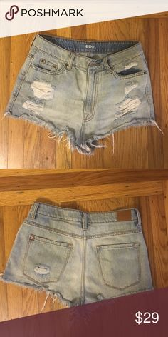 Denim shorts from Urban Outfitters Lightly worn, mid rise, very short BDG Shorts Jean Shorts