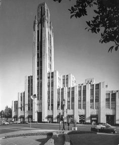 LOS ANGELES / KOREATOWN:  Bullock's Wilshire, 3050 Wilshire Boulevard, Los Angeles, CA  90010, 1940's.  Today USC uses the building for their law library.  The area is now known as Koreatown.