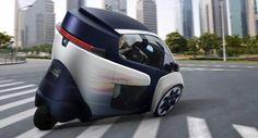 Voiture électrique : Toyota i-Road : un vehicule electrique à trois roues