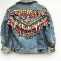OOAK Gypsy River tribal denim jacket online now!