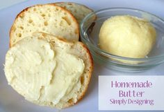 Simply Designing: Homemade Butter using a Jar {Boredom Buster} Good Food, Yummy Food, Fun Food, Homemade Butter, In Kindergarten, Kefir, Yummy Treats, Cooking Tips, Food And Drink