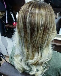 Balayage hair #blond #silver