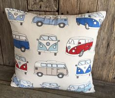 A personal favourite from my Etsy shop https://www.etsy.com/uk/listing/544782651/vw-campervan-blue-cushion