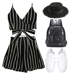 """""""Romwe #5 XIX"""" by oliverab ❤ liked on Polyvore featuring blackandwhite and romwe"""