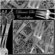 CARDEILHAC Masterpiece French Sterling Silver Dinner 36 pc Renaissance w/box