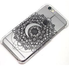 Crescent Moon Mandala Henna Phone Case iPhone 6, 6s, 6 Plus, 5, 5C, 5S, Galaxy S4, S5, S6, Note 4