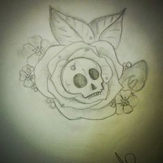 Tattoo skull rose Artiste : Annabelle Petit  Follow me on instagram: annaberu11