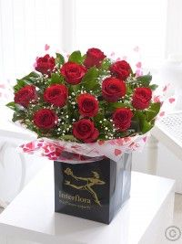 Send flowers with Flowers. Flower Delivery available in Dublin and nationwide.ie can guarantee both the quality and value of our produce to be entirely to your satisfaction. Valentine Bouquet, Valentines Flowers, Valentines Day, Valentine Ideas, Dublin, Dozen Red Roses, Red Rose Bouquet, Flower Bouquets