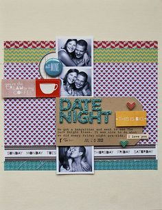 great use of photo strip / layout by Pam at ormolu