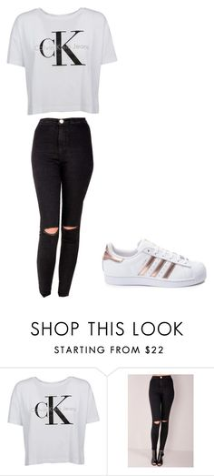 """Casual morning"" by nakyahv on Polyvore featuring Calvin Klein and adidas"