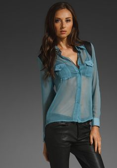Donna Mizani Blouse With Leather Detail