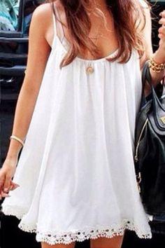 Lace Strap Sleeveless Dress