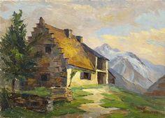 """Roger BORDENAVE """"Granges de Lesponne"""" HSI 33 x 46 cm SBD"""