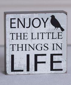 Look at this #zulilyfind! 'Enjoy the Little' Box Sign by Adams & Co. #zulilyfinds