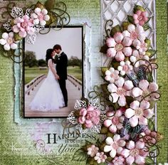 Karan Gerber : Happiness Is You- Heartfelt Creations - gorgeous scrapbook page.