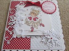 LOTV Lili of the Valley Handmade Christmas Card - Christmas Dance Girl SCT