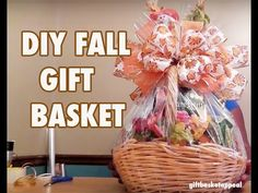 In this video, Tracey Phillips shows you how to make a Fall Harvest Gift Basket. This basket is great for a school raffle or fundraiser. Music created by Wil. Holiday Baskets, Holiday Gift Baskets, Diy Gift Baskets, Basket Gift, Baby Shower Hostess Gifts, Diy Baby Gifts, Halloween Baskets, Fruit Gifts, Fall Gifts