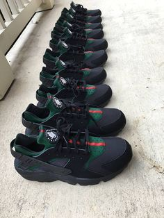 987e52219809 Items similar to Custom Gucci Nike Huaraches on Etsy