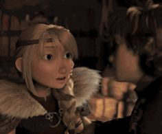 Hiccup kissing Astrid on the cheek