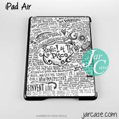 panic at the disco quote Phone case for iPad 2/3/4, iPad air, iPad mini