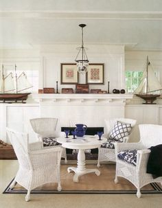 Nautical inspired living room