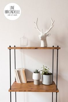 Discover recipes, home ideas, style inspiration and other ideas to try. Diy Interior, Handmade Home, Do It Yourself Regal, Home Projects, Home Crafts, Inside Home, Industrial Shelving, Wall Storage, Home Decor Styles