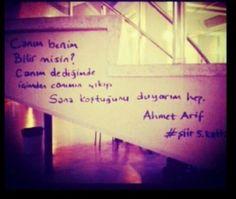 Canım benim bilir misin canım dediğimde içimden canımın çıkışı sana koştuğumu duyarım hep / Ahmed Arif