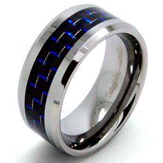 Bridal Wedding Bands Decorative Bands Titanium Polished Black//Red Carbon Fiber Inlay Ring Size 13