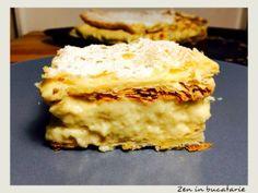 Cremsnit sau cremes facut in casa Food And Drink, Sweets, Homemade, Cookies, Desserts, Kitchens, Bakken, Crack Crackers, Tailgate Desserts