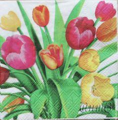 Купить салфетки декупаж цветы тюльпаны праздник принт - салфетки, Декупаж, салфетка для декупажа
