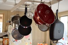 My pots and pan rack, a ladder.