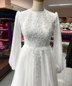 Image may contain: one or more people, standing people . Muslimah Wedding Dress, Modest Wedding Gowns, Muslim Wedding Dresses, Dream Wedding Dresses, Bridal Dresses, Prom Dresses, Hijab Evening Dress, Hijab Dress Party, Hijab Style Dress