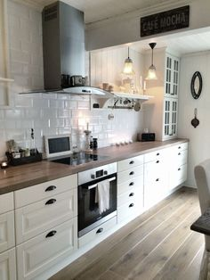 LOVE This Entire Kitchen Farm House Sink Open Shelving
