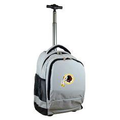 NFL Washington Redskins Premium Wheeled Backpack - Grey