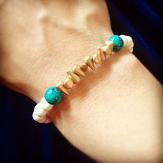 Spike bracelet with turquoise accent by AroundMyWrist on Etsy, 8.95