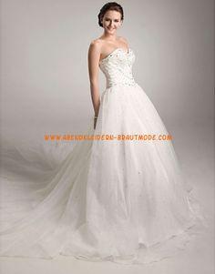 2013 Moderne Luxuriöse Brautmode aus Satin und Organza Herzausschnitt