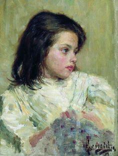 Boris Kustodiev- Girl, 1897