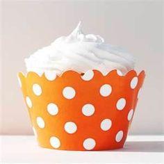 Orange Polka Dot Cupcake.  www.ajilbab.com