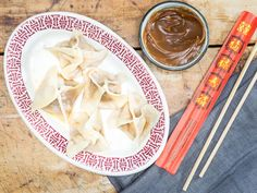 Crystal Palace's Hunan Dumplings with Peanut Sauce