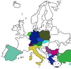 Visited Europe Countries Map