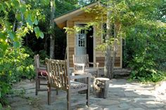 Cozy Sauna with a friendly exterior & an interior space created for efficiency
