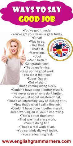 English Speaking Skills, English Language Learning, Learn English Words, English Lessons, Essay Writing Skills, English Writing Skills, English Vocabulary Words, English Grammar, Ways To Say Congratulations