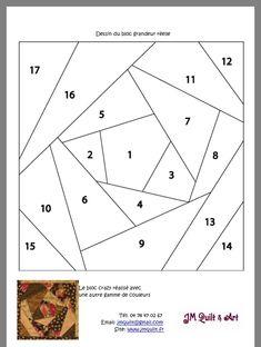Paper Pieced Quilt Patterns, Mosaic Patterns, Paper Piecing, Patchwork Tutorial, Home Sew, Patch Quilt, Pattern Blocks, Quilt Making, Quilting Designs