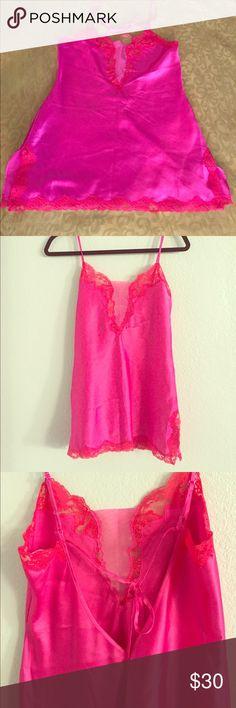 Ladies satin laced mini slip Mini slip red Satin sleep ware lingerie camisole Victoria's Secret Intimates & Sleepwear Chemises & Slips