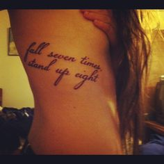 Never give up <3     Not gonna lie, this is a cool tattoo.