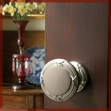 Vaseline door knob- place a glob under the bottom of door know so you can't see it.